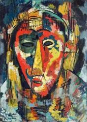 1915, Amadeo de Souza-Cardoso : Le masque à l'œil vert
