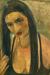 1934, Amrita Sher-Gil : Self Portrait With Long Hair 2