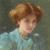 1908, Jane Sutherland : Blue and gold- portrait of Dorothy Sutherland