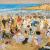 1913, Ethel Carrick Fox : Manly Beach – Summer is Here