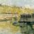 1920, Will Ashton (né en Angleterre, fils de James Ashton, directeur de la National Art Gallery of New South Wales de 1937 à 1945) : Laundry boats on the Seine