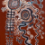 2018, Witjiti George (a commencé à peindre en 2007, à 69 ans) : Piltati- Wanampi Tjukurpa