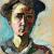 1908, Gabriele Münter : Autoportrait