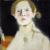 1915, Helene Schjerfbeck : Self-portrait, Black Background