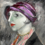1923, Sigrid Hjerten : Le chapeau violet (probable autoportrait)