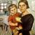 1928, Elsa Haensgen-Dingkuhn : Selbstbildnis mit Sohn im Atelier
