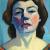 1928, Maggie Laubser : Self-portrait