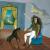 1937-38, Leonora Carrington : À l'auberge du cheval d'aube (autoportrait)