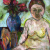 1940s, Stella Steyn : Self-portrait with plants