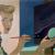 1944, Helen Lundeberg : Self-Portrait With Landscape