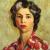 1945, Mabel Alvarez : Self-Portrait With Streak Of White Hair