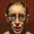1996, Susanna Coffey : Self-Portrait, round glasses, coral lipstick