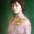 2008, Adina Romanescu : Autoportret pe fond verde