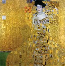 1907, Gustav Klimt (président de la Sécession de Vienne de 1897 à 99) : Adèle Bloch-Bauer I