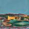 1979, Bhupen Khakhar : Howard Hodgkin's House on Hand Painted Cushion