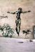 1986_Blek le Rat_Paris, The Christ with Bruno les cochons