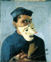 1928_Felix-Nussbaum_Self-Portrait-with-Mask-reference-a-Ensor
