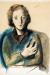 Felix Nussbaum, Porträt Felka Platek mit verschränkten Armen, 1940