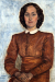 1942_Felka-Platek_Portrat-einer-Dame-im-roten-Kleid