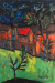 1957, Francis Newton Souza : Red houses in front garden