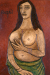 1961, Francis Newton Souza : Standing nude