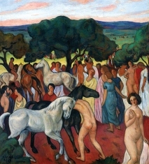 1917, Béla Kádár : Le marché