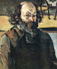 1873-76, Paul Cézanne : Autoportrait