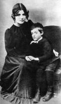 1889, Suzanne Valadon et son fils Maurice Utrillo
