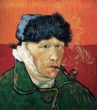 1889, Vincent Van Gogh : Autoportrait à l'oreille bandée et à la pipe
