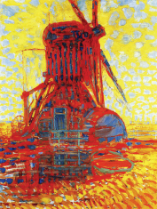 1908, Piet Mondrian : Mill in Sunlight, The Winkel Mill