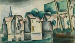 1910, André Derain : Les maisons au bord de l'eau