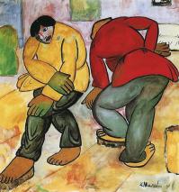 1911-12, Kazimir Malevich : Les polisseurs de parquet