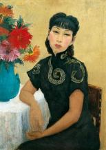 1940, Pan Yuliang : Autoportrait en noir
