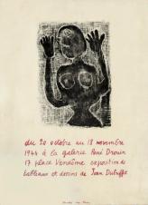 1944, Jean Dubuffet à la galerie René Drouin, affiche