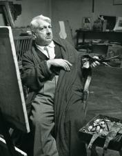 1952, Giorgio de Chirico dans son studio