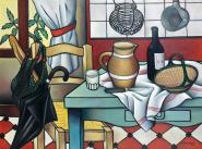 1954, Georges Bauquier : Coin de cuisine