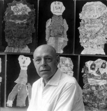 1959, Jean Dubuffet à Vence, Photo © John Craven