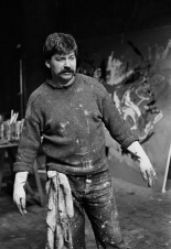 1961, Ed van der Elsken : Karel Appel dans son atelier