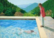 1972,David Hockney : Portrait d'un artiste (Pool with Two Figures)