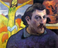 1889, Paul Gauguin : Autoportrait au Christ jaune