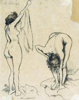 1895, Suzanne Valadon : Jeunes femmes à la toilette