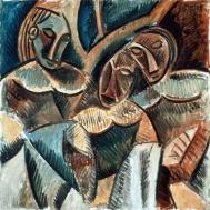 1907, Pablo Picasso : Trois figures sous un arbre