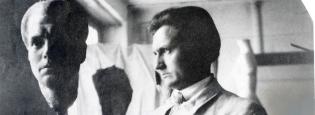 1918, Wilhelm Lehmbruck dans son studio de Zurich