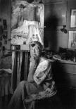 1925, Marianne Von Werefkin dans son atelier, Ascona