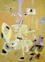 1947, Arshile Gorky : The betrothal II