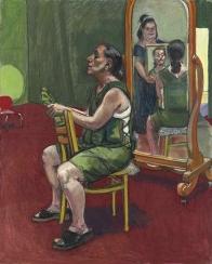 2004, Paula Rego : Self-portrait with Lila, Reflection and Ana