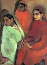 1935, Amrita Sher-Gil (F, morte en 1941, à 28 ans) : Group of Three Girls