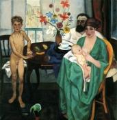 1922, Jan Sluijters : Le peintre et sa famille