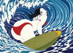 1974, Yoshio Okada : Surfeuse