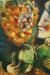 1910, Marc Chagall : Femme avec un bouquet